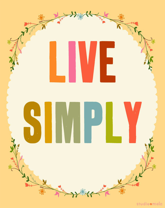 Print 'Live Simply' by Studio Mela