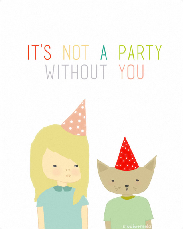 Print 'Party Cat' by Studio Meld