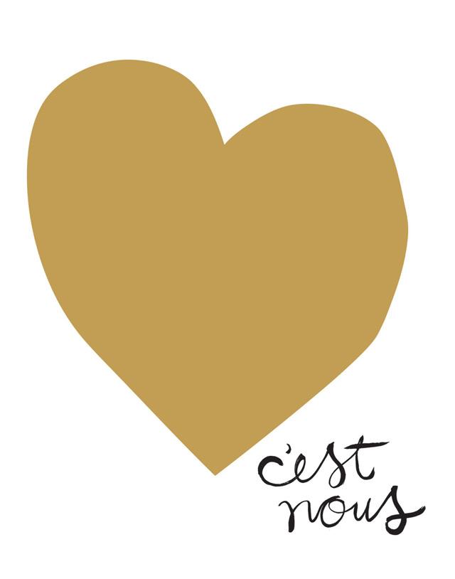 I like this print C'est nous (It's us)