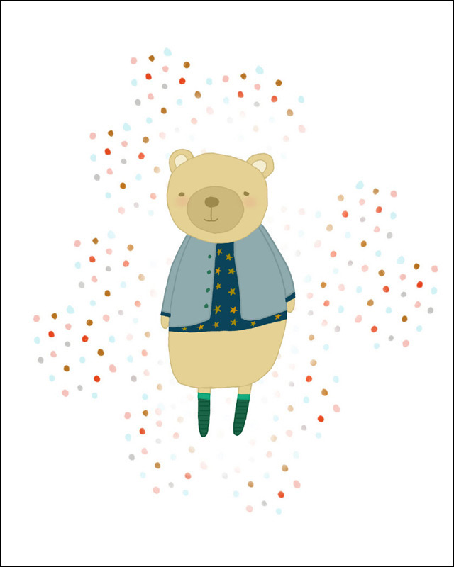 Print 'Oh Bear' by Studio Mela