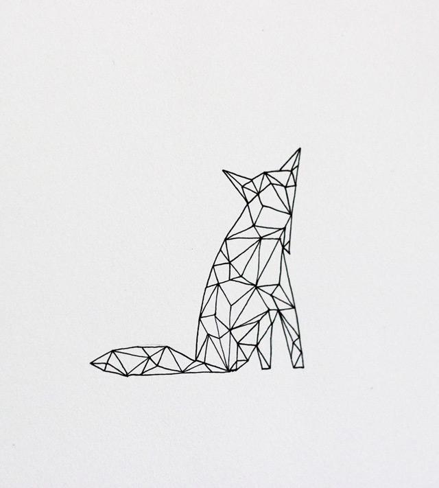Print Geometrix fox by Anna Tovar