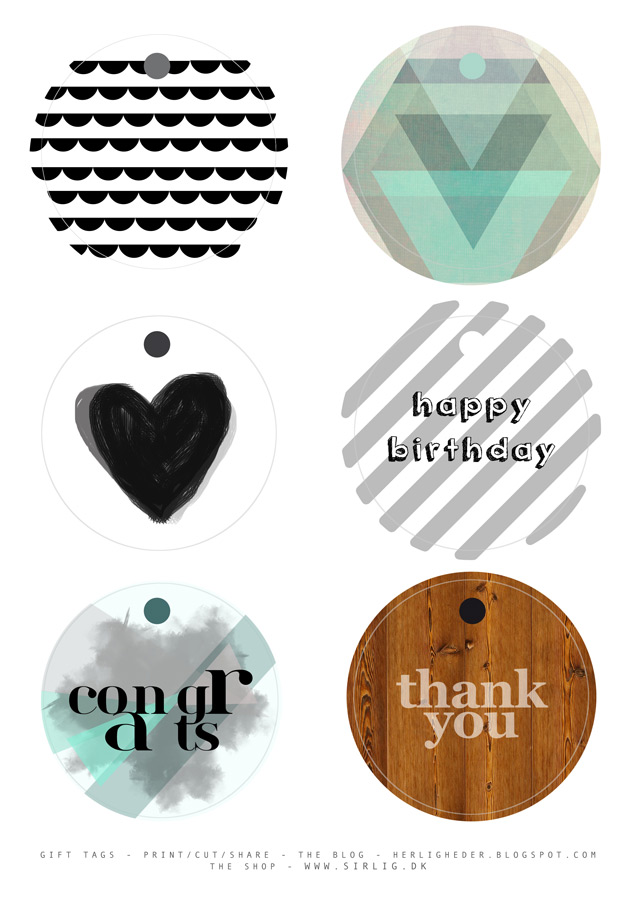 Free download! Awesome gift tags