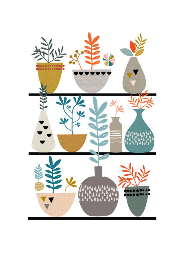 Print Flora and succulents