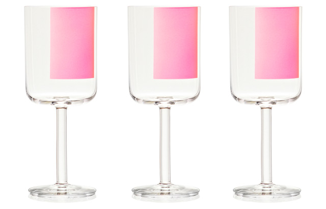 HAY Colour glass red wine pink square