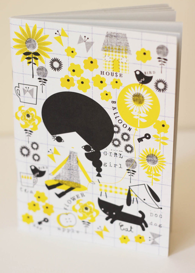 Notebook Girl in Yellow