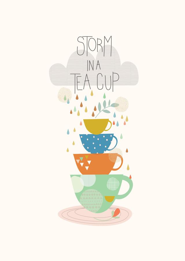 Print 1: Storm in a tea cup