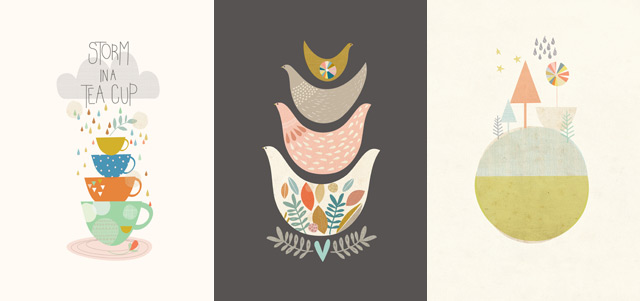 Lovely prints by Paper Moon