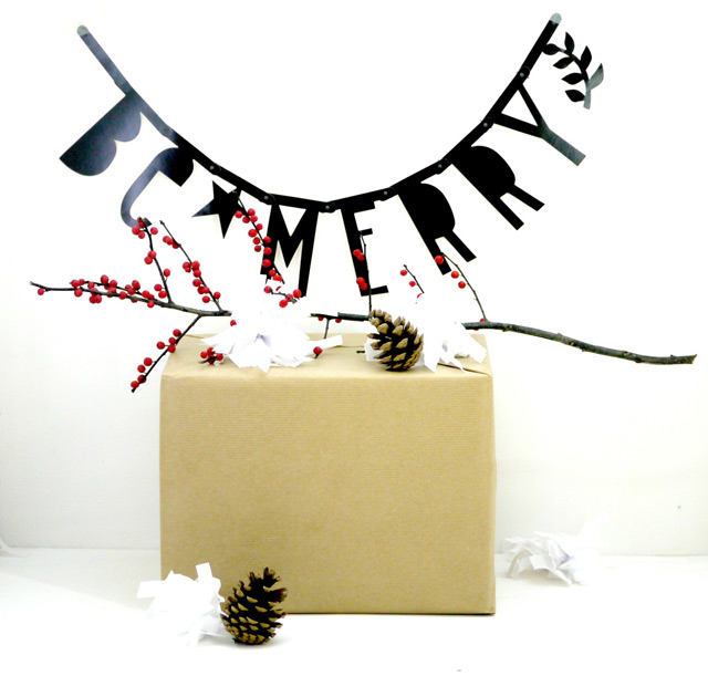 You can win this lovely letter banner by A Little Lovely Company