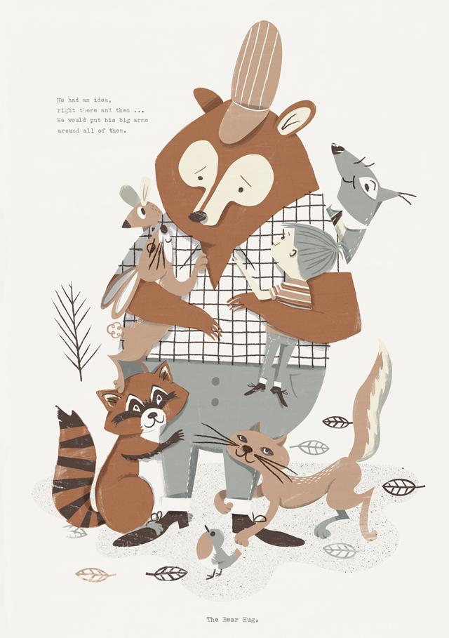 Print Bear Hug