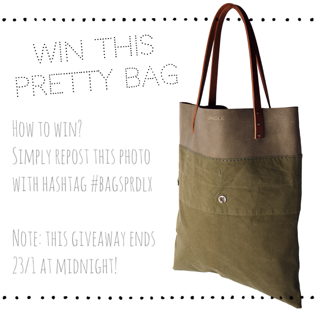 Repost this photo on Instagram and win this pretty bag!
