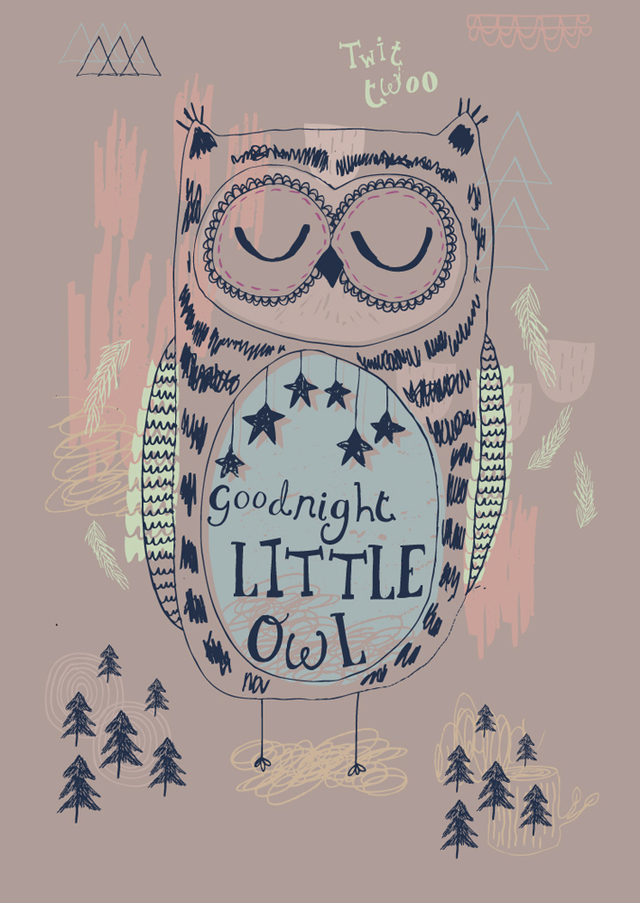 Poster Goodnight by Rosie Harbottle