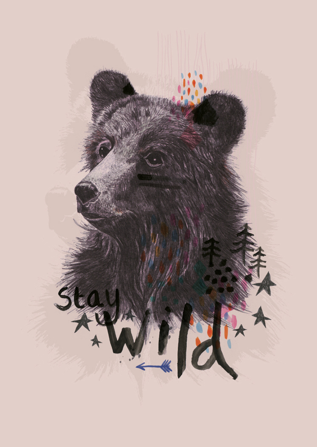 Poster Stay wild