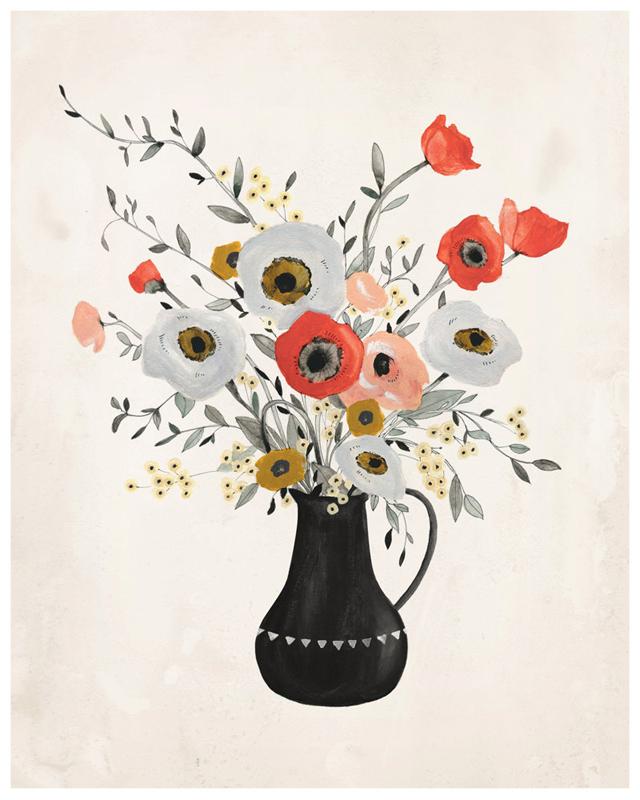 Poppy print by KelliMurrayArt