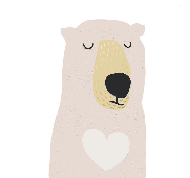 Print I love you beary much