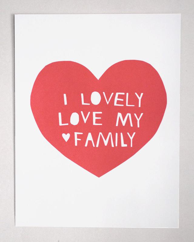 Print Lovely, Love my family