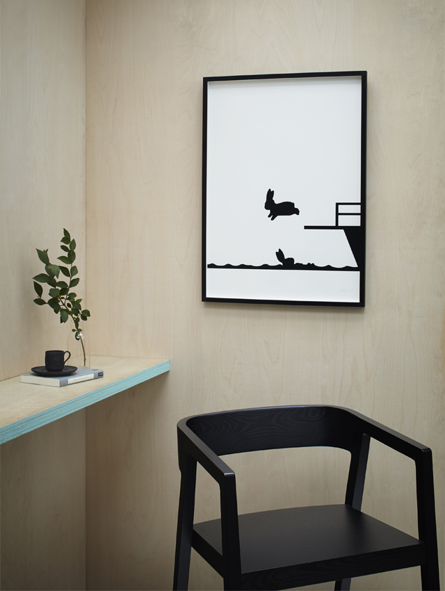 HAM prints - diving rabbit