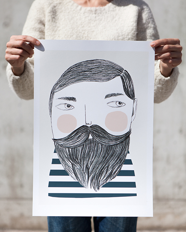 Print Bearded man by Depeapa