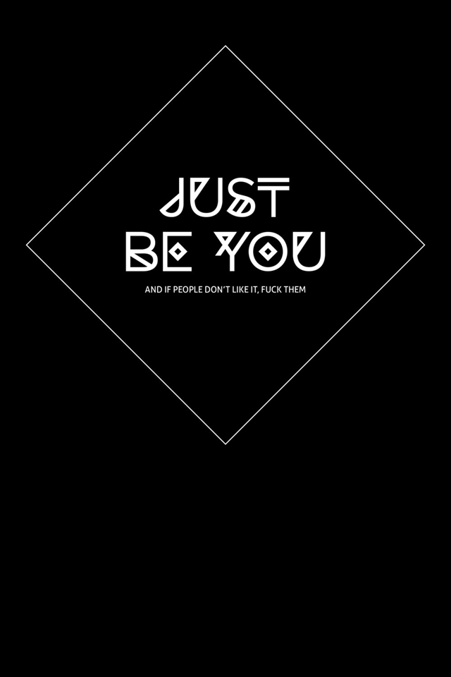 Print 'Just be you' by JESIWOOD