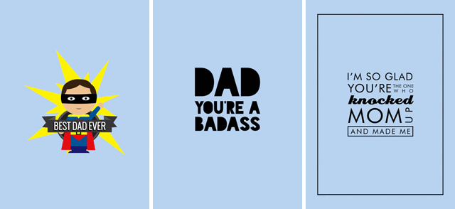 Fun Father's Day cards designed by Funkytime