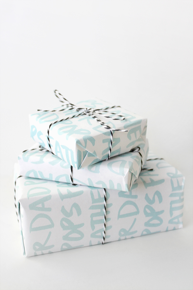 Printable Father's Day gift wrap - almost makes perfect