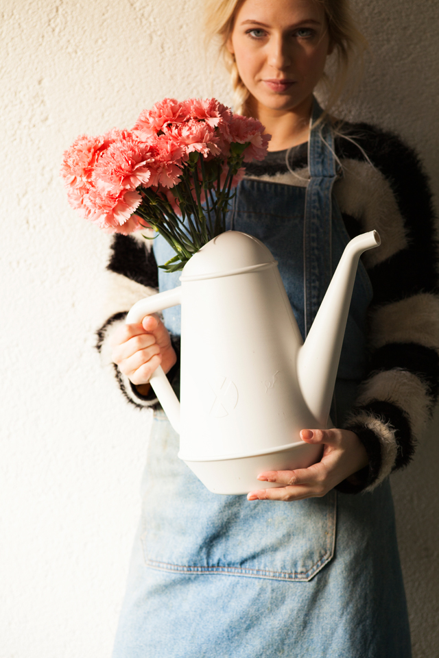 Watering can Butler (white)