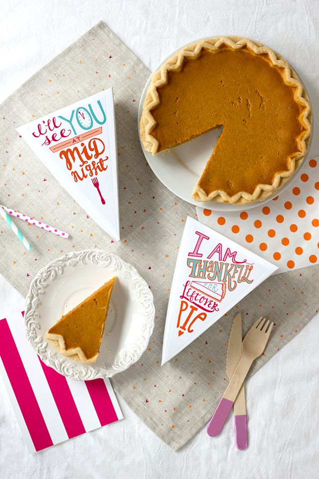 Free Printable Leftover Pie Labels