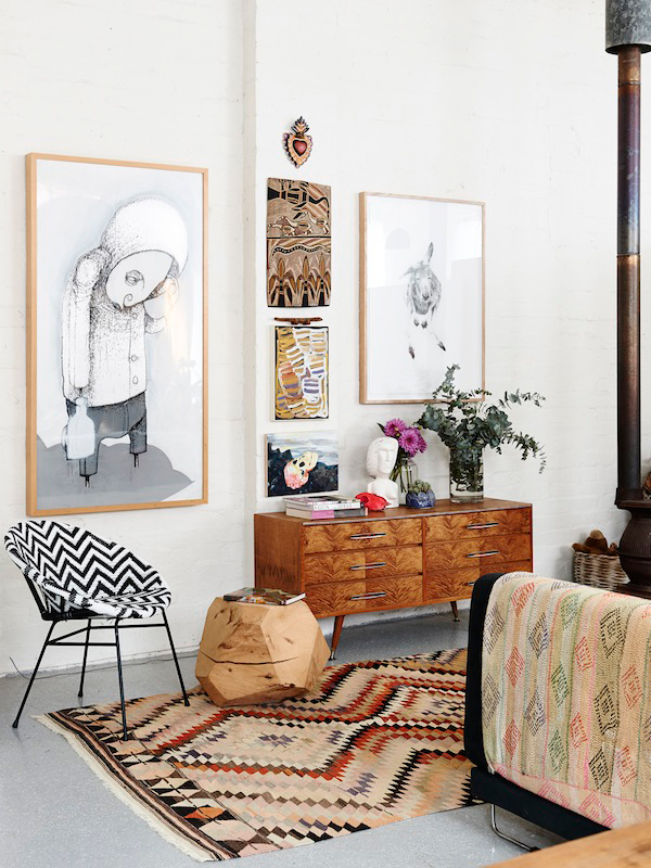 Beautiful! I've a crush on this eclectic home of Carla Fletcher and Brett Langsford