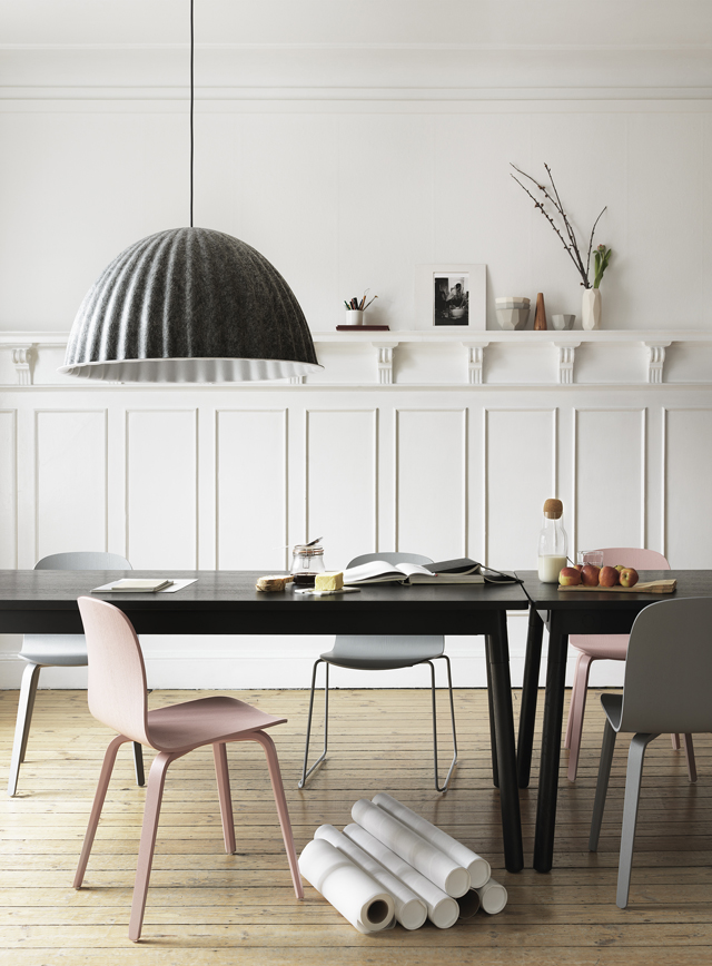 Under the bell lampshade from Muuto