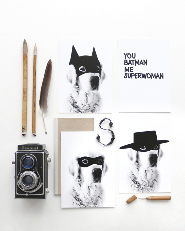Postcards Superhero (set of 4 cards)