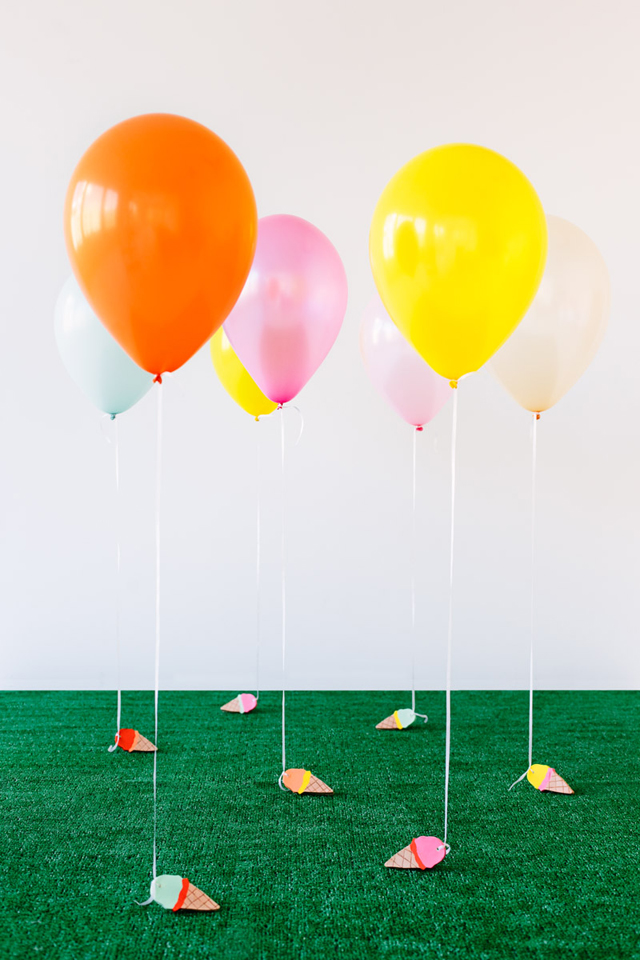 Ice Cream Cone Balloons Weights