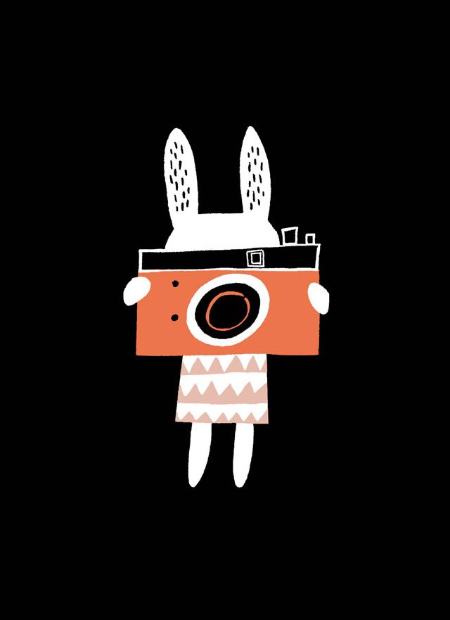 Print Bunny camera - Becky Baur