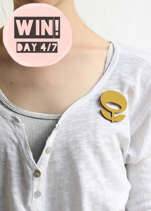 Are you ready for day 4 of the Blue Monday giveaway week? Today's turn is for Indie-ish: you can win a wooden brooch from Layla Amber or Snug.Studio of a design by your choice.