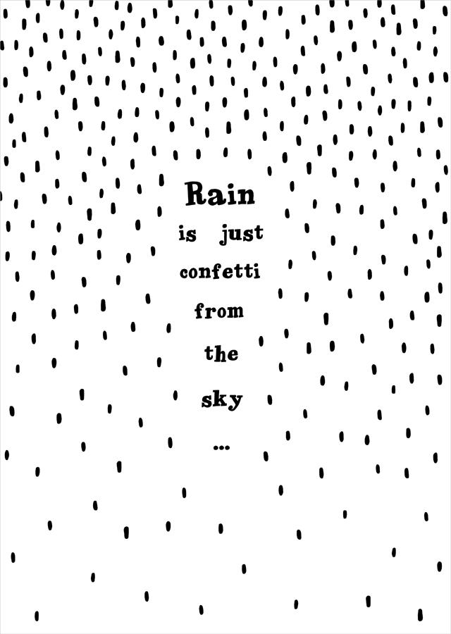 Poster Rain - By Miinti
