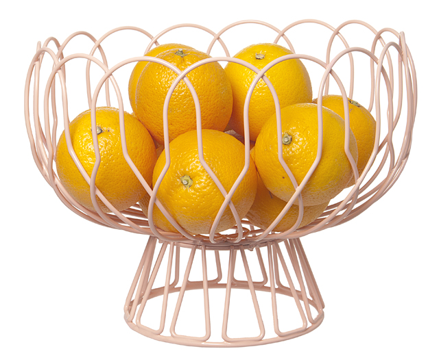 Fruit bowl wired pink