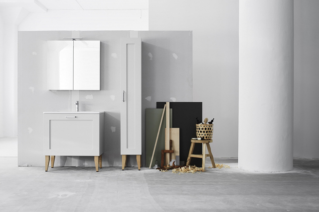 Swoon bathroom furniture - Square swallows nest
